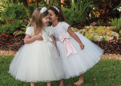 7d79237a2 Sarah Louise flower girl dress Ivory | Sarah Louise Occasion Wear ...