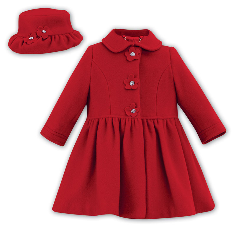 Cashmere and Wool Red Coat and Hat Style 10145 | Coccolino ...