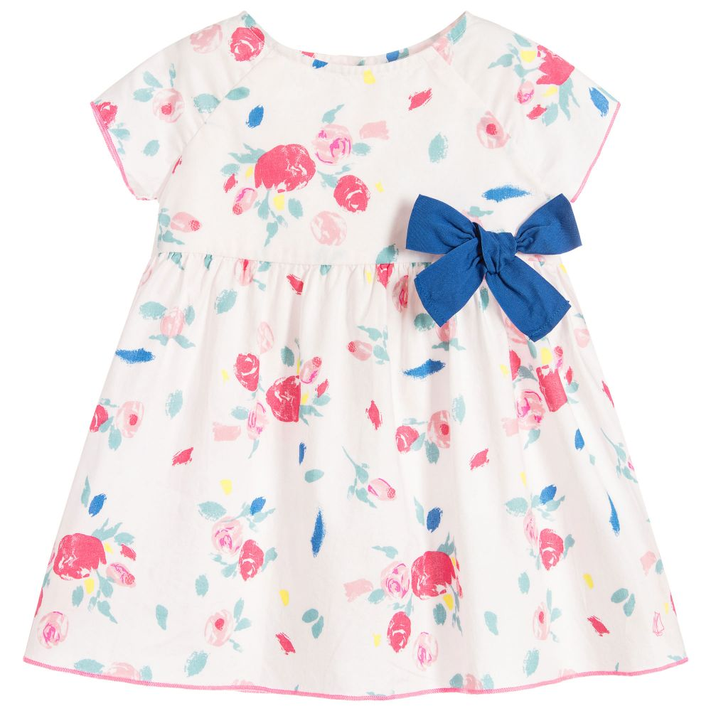 f3f3d62ff8c3 PETIT BATEAU Baby Girls Pink Floral Dress