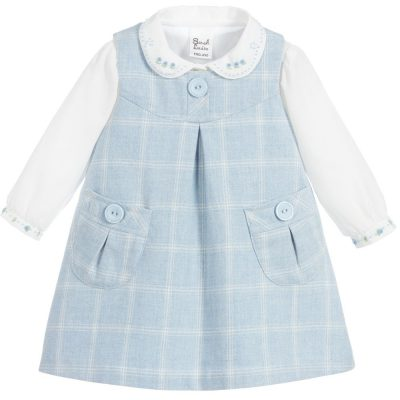Sarah Louise Blue Check Dress