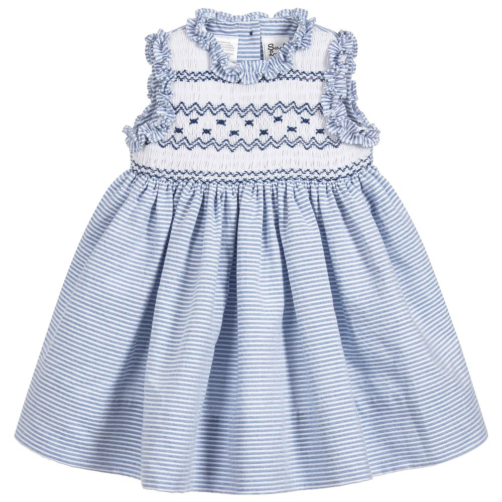 8e17ea5c4a0 Blue Hand-Smocked Dress | Girls, Occasion Wear, Sarah Louise | Coccolino