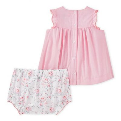 3228fa7cf Poplin Dress in Mini Gingham with Matching Bloomers