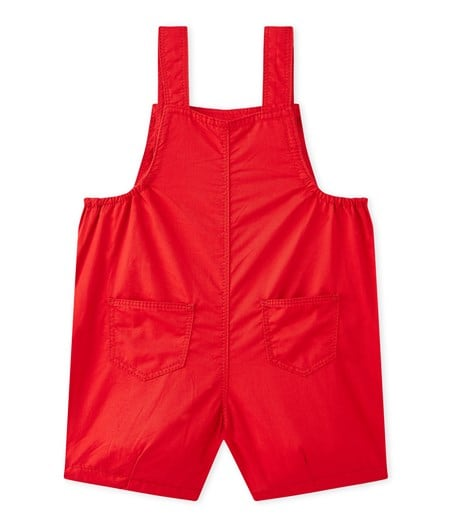 4026c8d67811 Baby Boys  Red Striped Short Dungarees