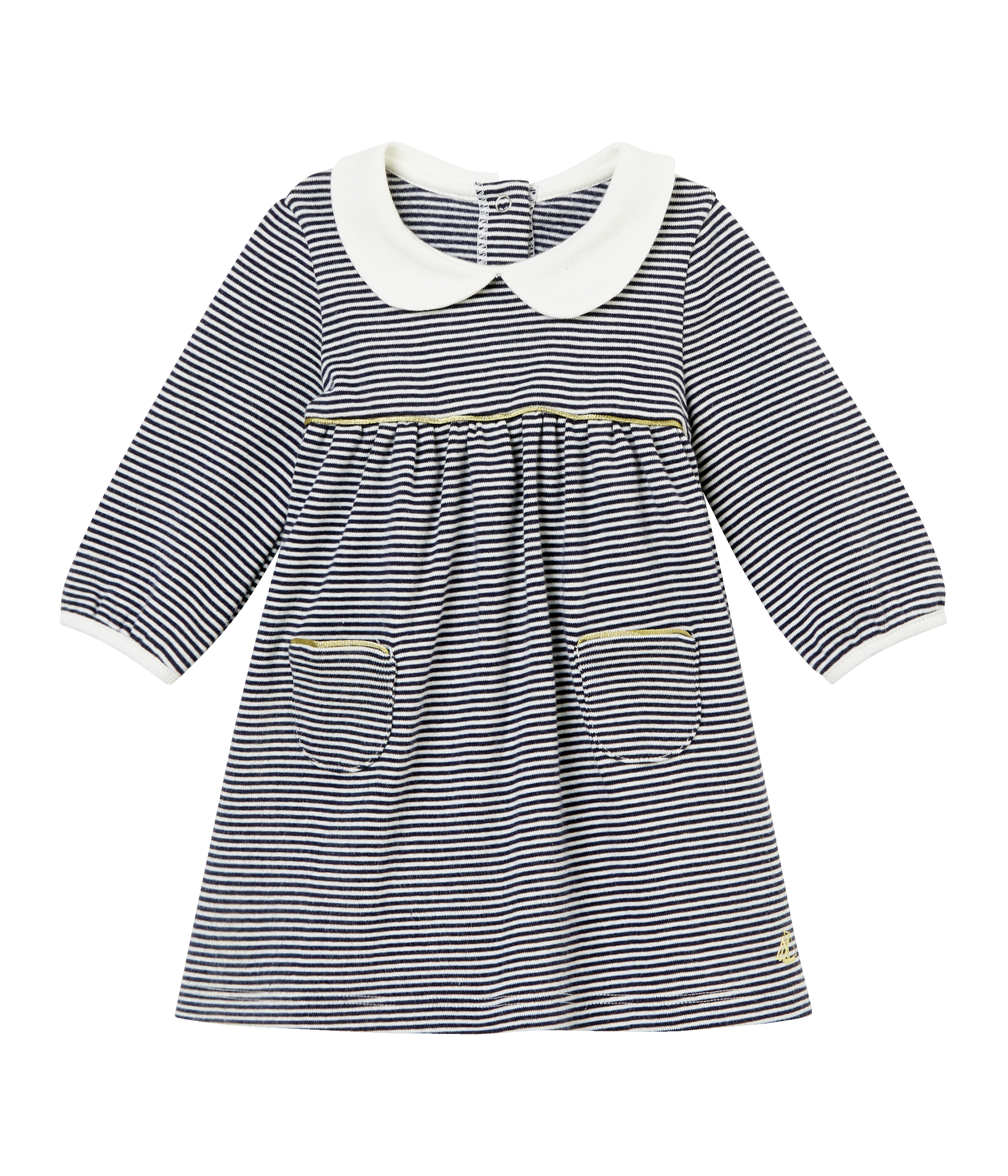 5a04be0bf023 Baby Girls Milleraies Striped Dress with Peter Pan Collar